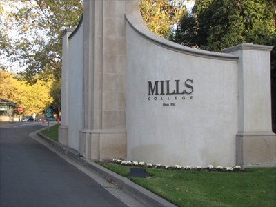 Mills College Entrance Wall