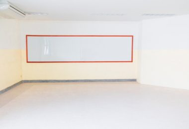 empty whiteboard in the classroom Under construction