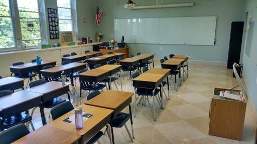 glass white board in classroom